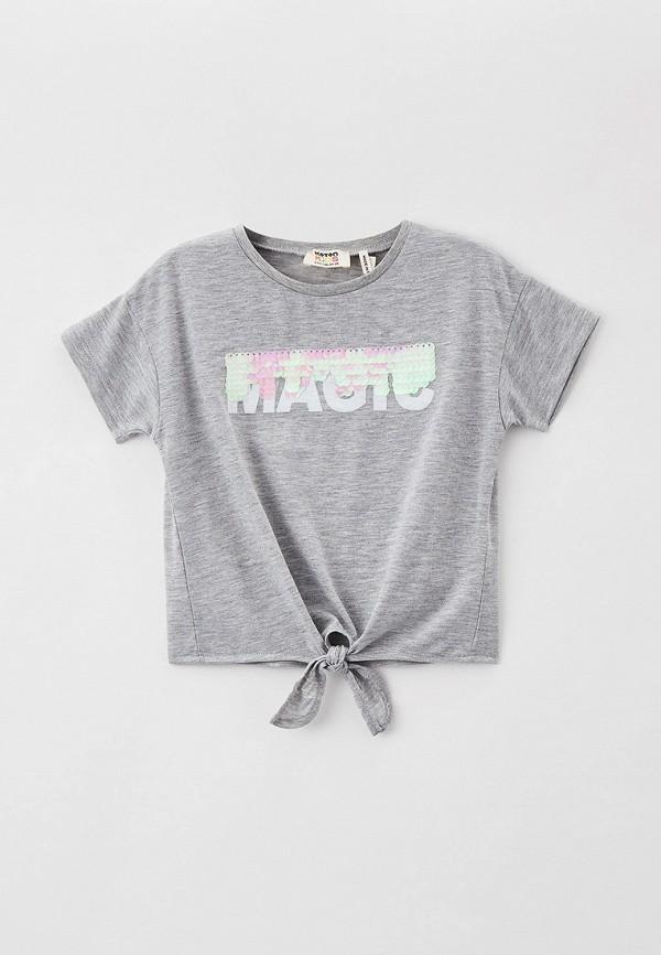 футболка с коротким рукавом koton для девочки, серая