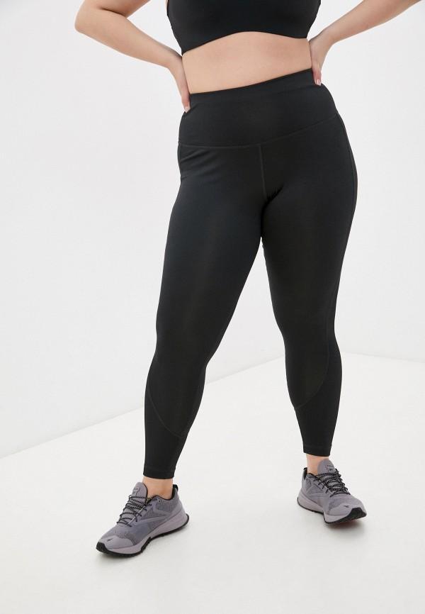 женские спортивные леггинсы reebok, черные