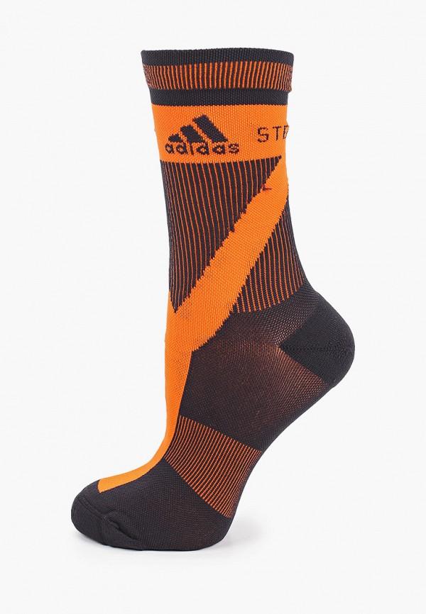 женские носки adidas by stella mccartney, оранжевые