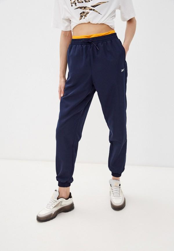 женские спортивные брюки reebok, синие