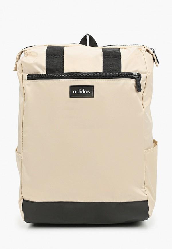 женский рюкзак adidas, бежевый