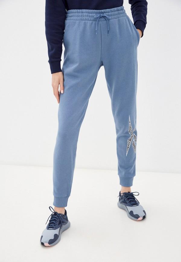женские спортивные брюки reebok, голубые