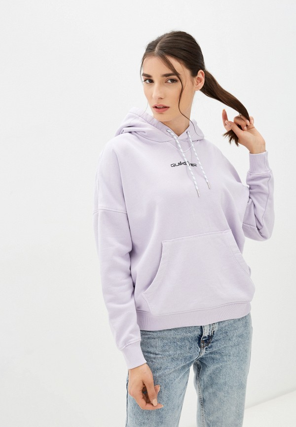 женские худи quiksilver, фиолетовые