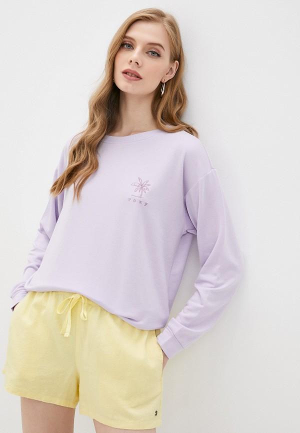 женский спортивные свитшот roxy, фиолетовый