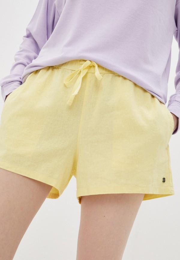 женские повседневные шорты roxy, желтые