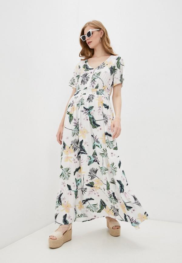 женское повседневные платье roxy, белое