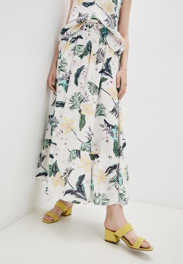 женская юбка-трапеции roxy, белая