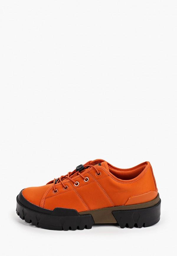 женские низкие ботинки onitsuka tiger, оранжевые