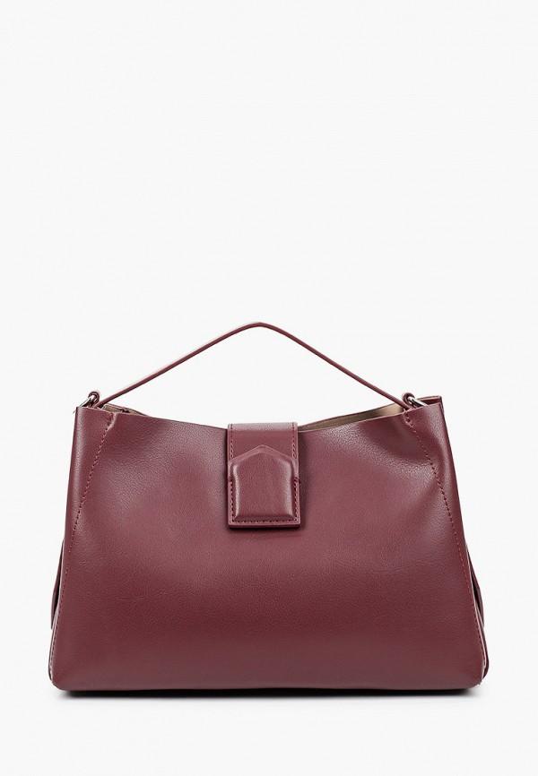 женская сумка francesca peretti, бордовая