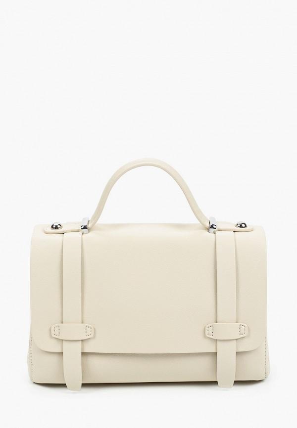 женская сумка francesca peretti, бежевая