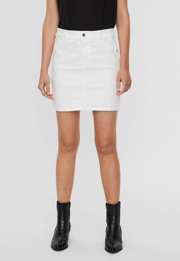 женская джинсовые юбка vero moda, белая