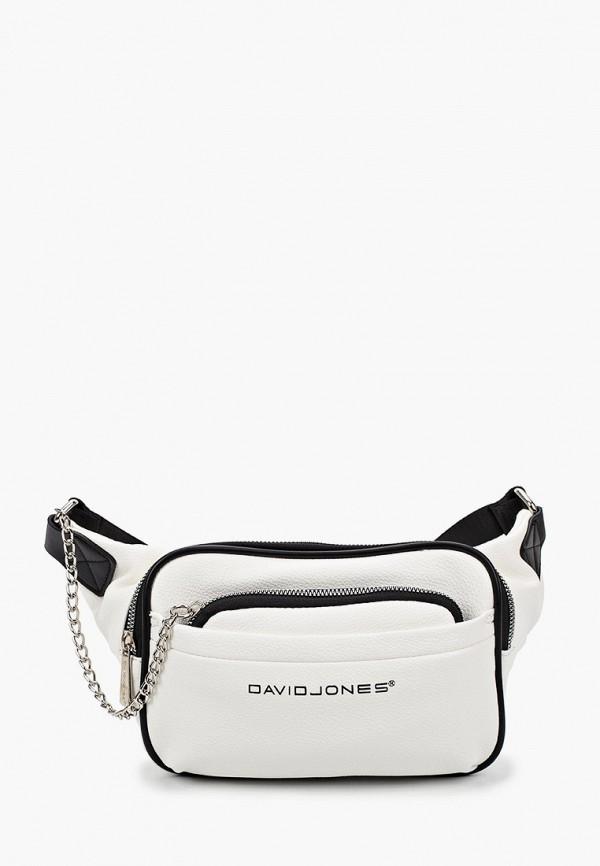 женская поясные сумка david jones, белая