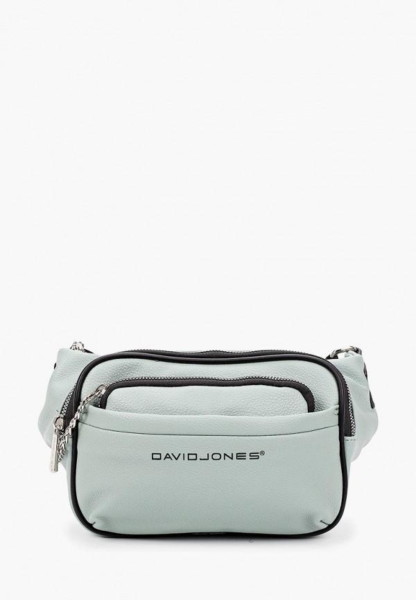 женская поясные сумка david jones, бирюзовая