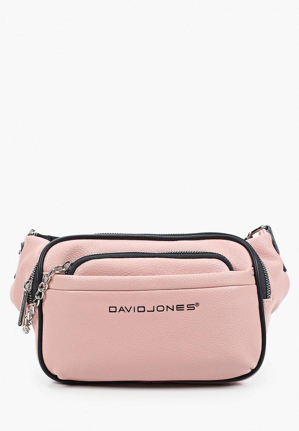 женская поясные сумка david jones, розовая