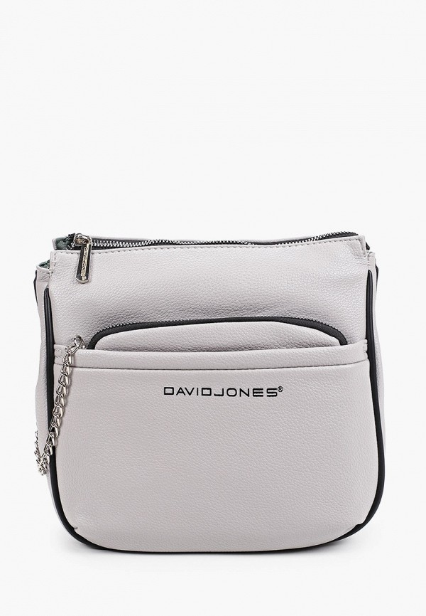 женская сумка через плечо david jones, серая