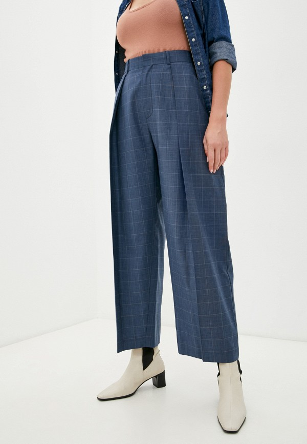женские повседневные брюки diesel, синие