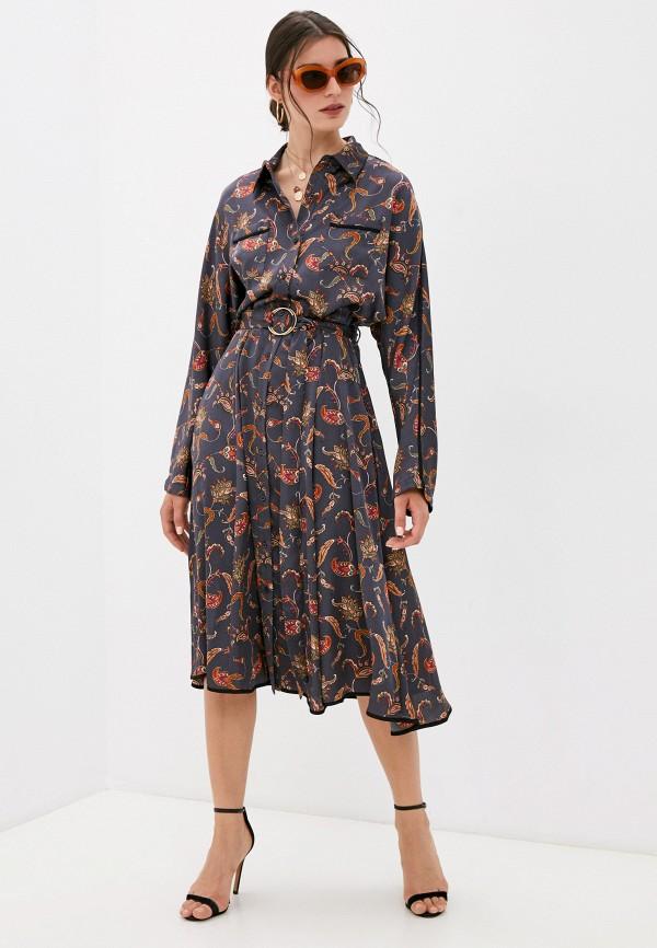 женское платье-рубашки silvian heach, серое