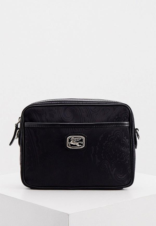 мужская сумка через плечо etro, черная
