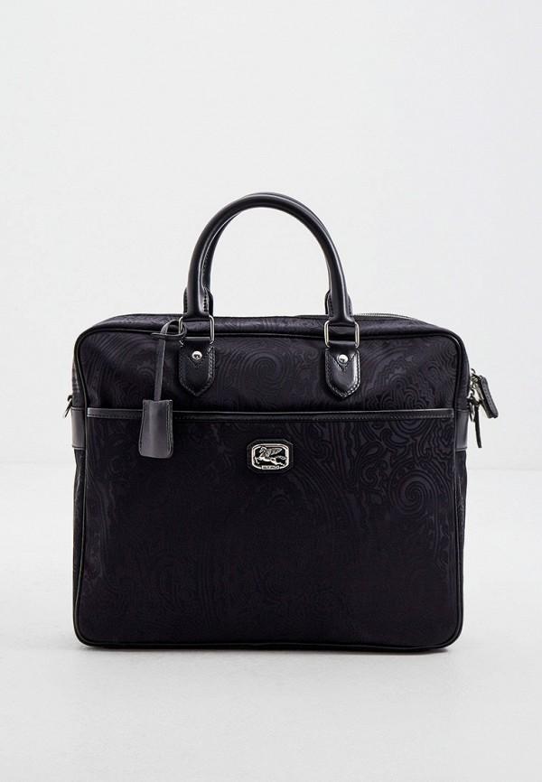 мужская сумка с ручками etro, черная