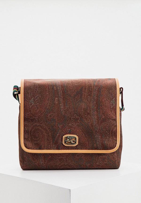 мужская сумка через плечо etro, коричневая