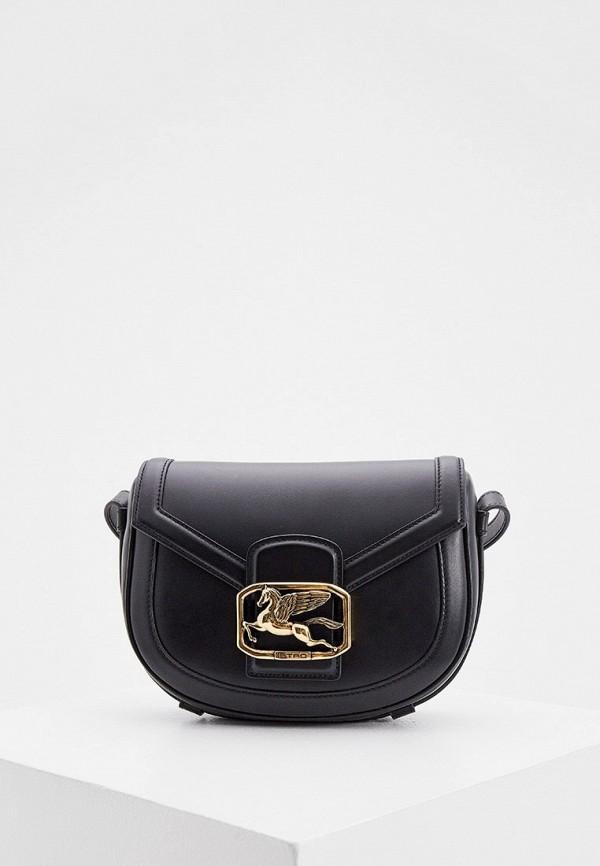 женская сумка через плечо etro, черная