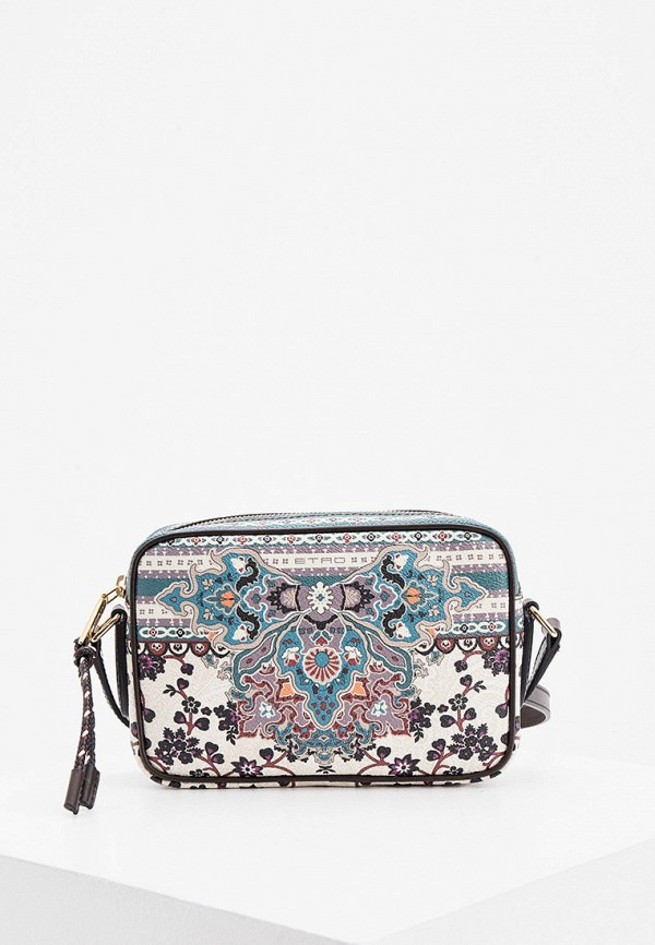 женская сумка через плечо etro, разноцветная