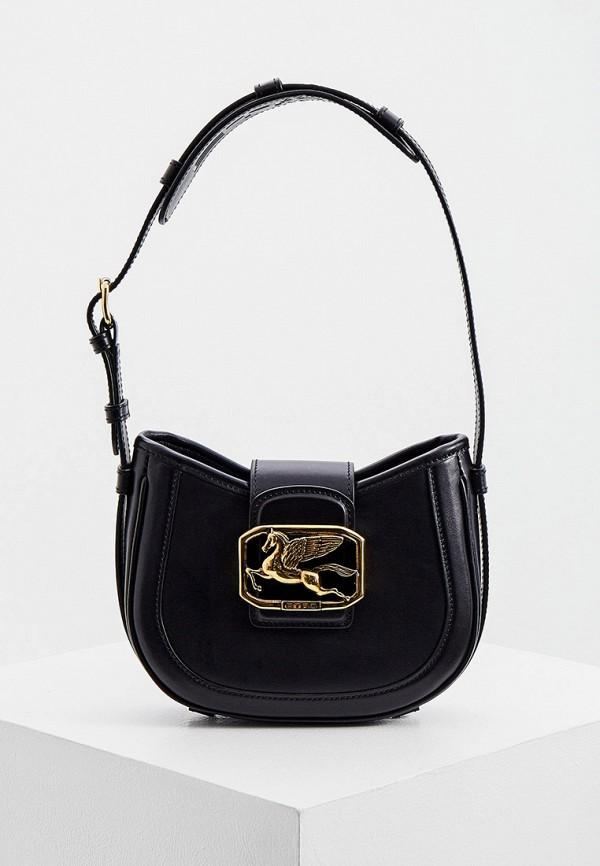 женская сумка с ручками etro, черная