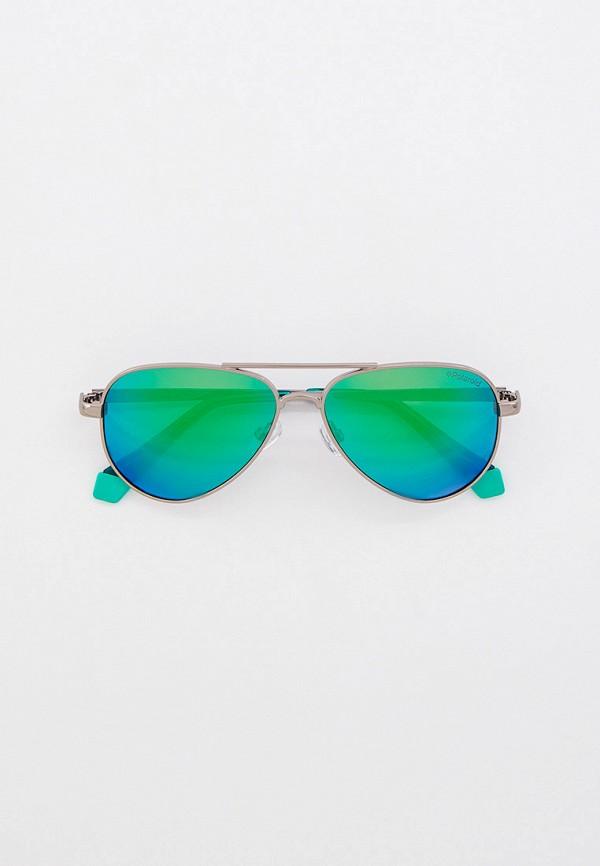 солнцезащитные очки polaroid малыши, серебряные