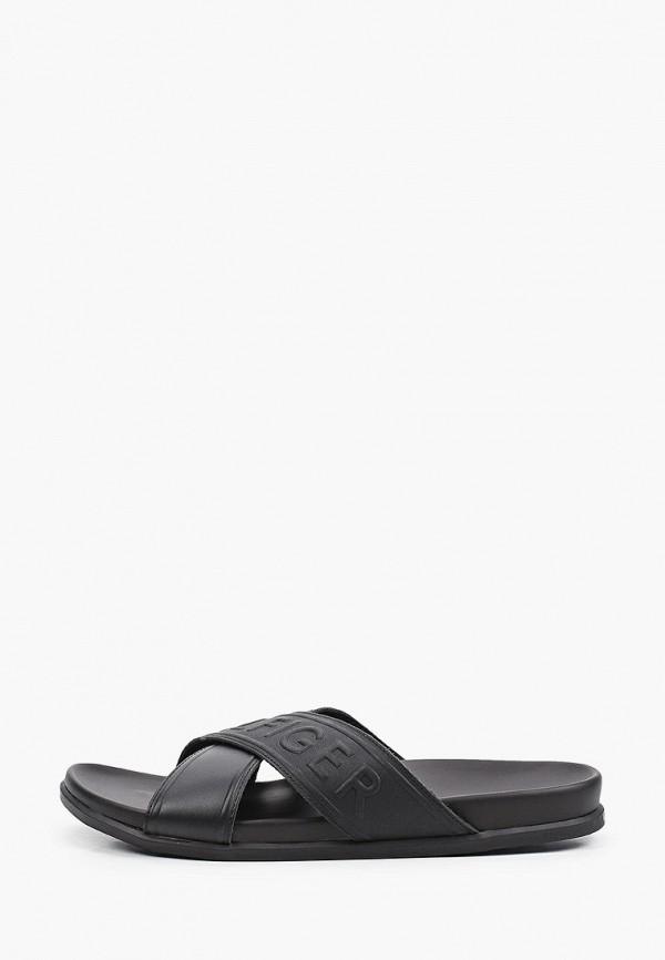 мужские сандалии tommy hilfiger, черные