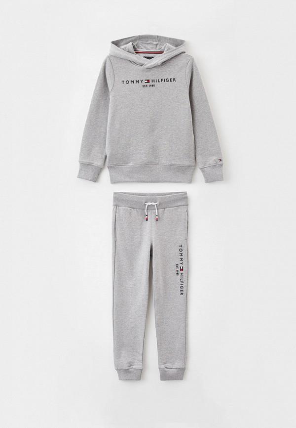 спортивный костюм tommy hilfiger для мальчика, серый