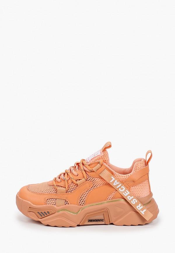 женские низкие кроссовки trien, оранжевые