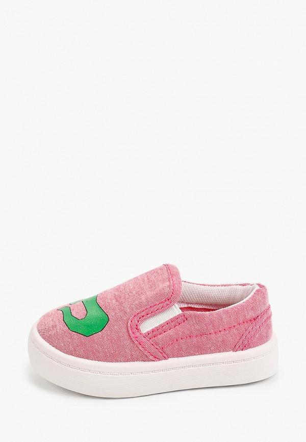 слипоны trien для девочки, розовые