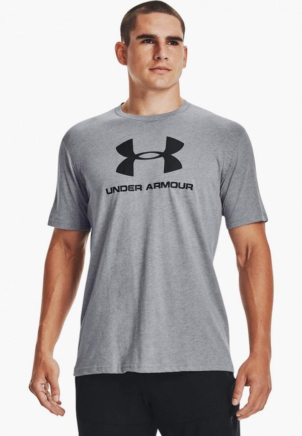 мужская футболка с коротким рукавом under armour, серая