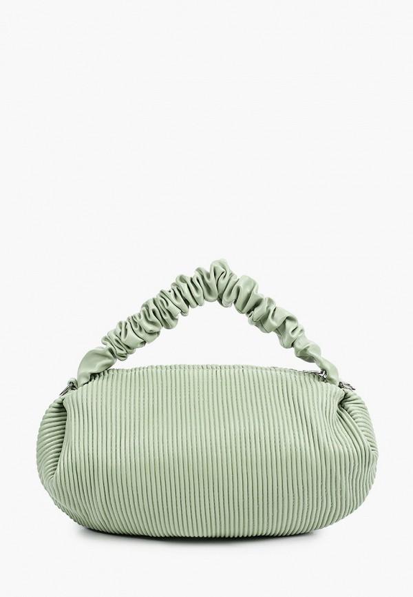 женская сумка с ручками allegri, зеленая