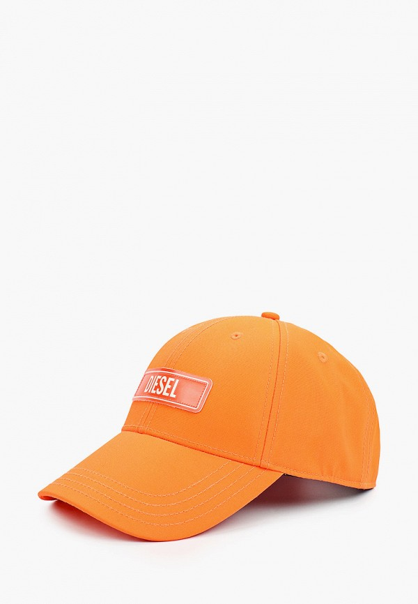 женская бейсболка diesel, оранжевая