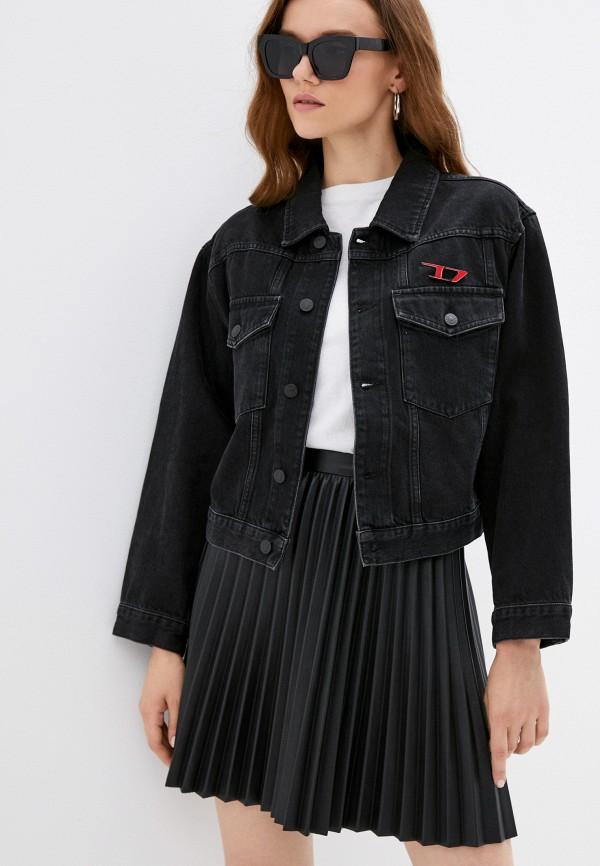 женская джинсовые куртка diesel, черная