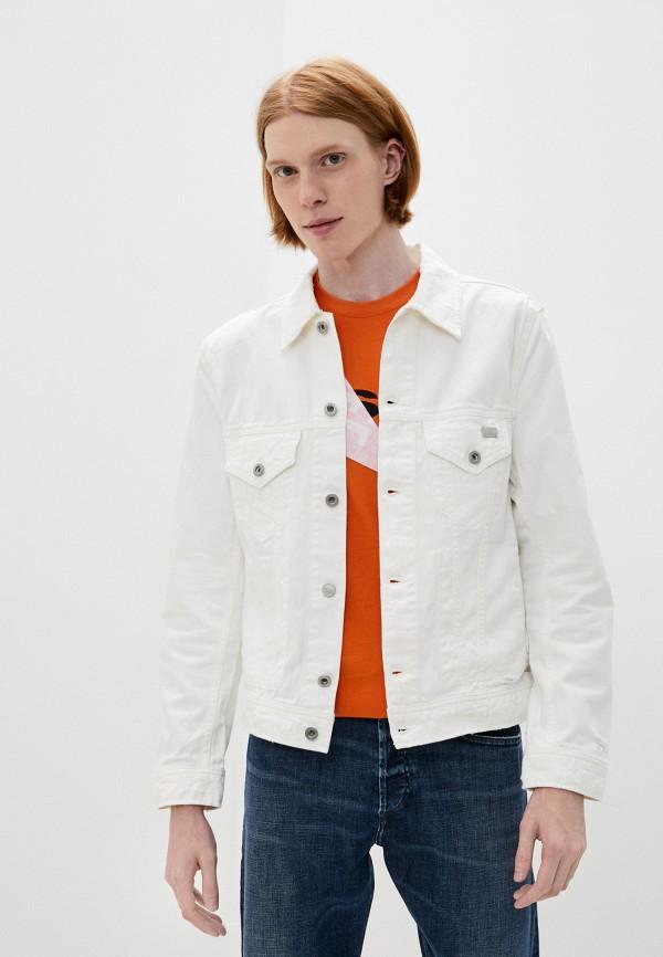 мужская джинсовые куртка diesel, белая