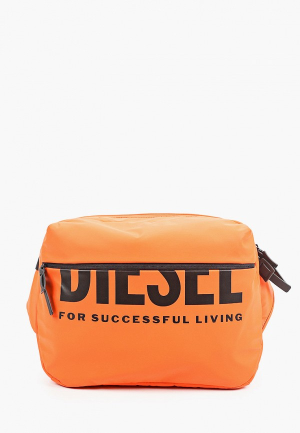мужская сумка через плечо diesel, оранжевая