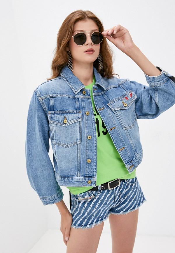 женская джинсовые куртка diesel, голубая