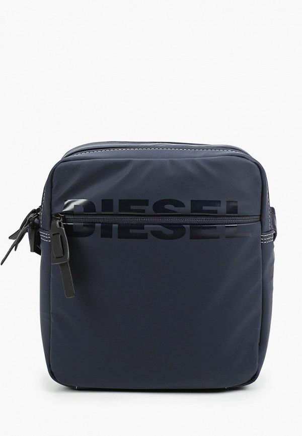мужская сумка через плечо diesel, синяя