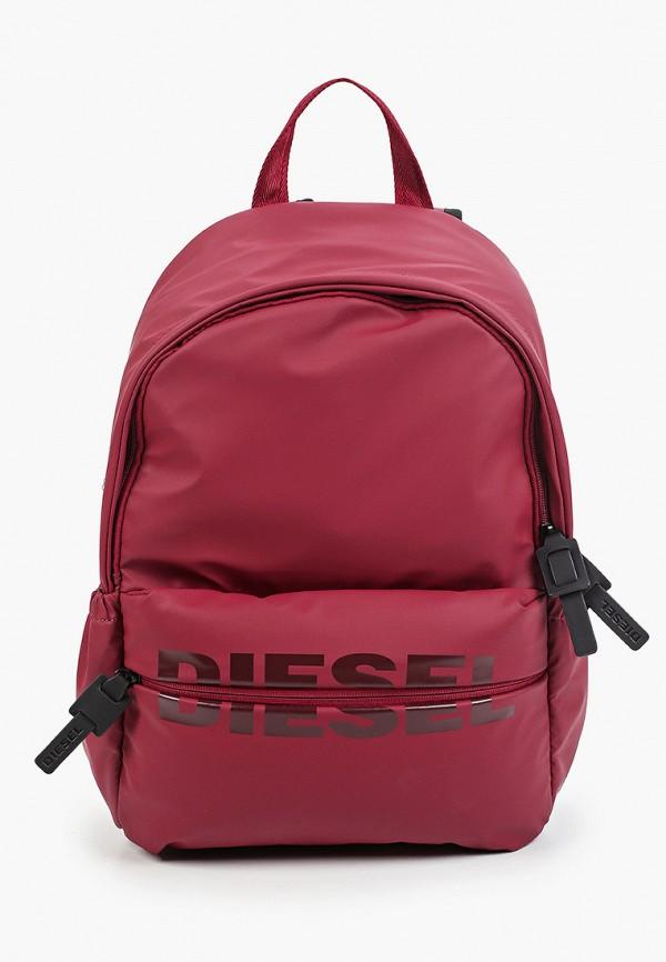 женский рюкзак diesel, бордовый