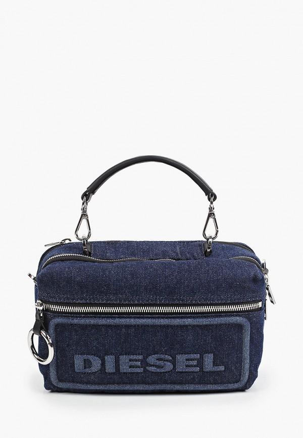 женская сумка с ручками diesel, синяя