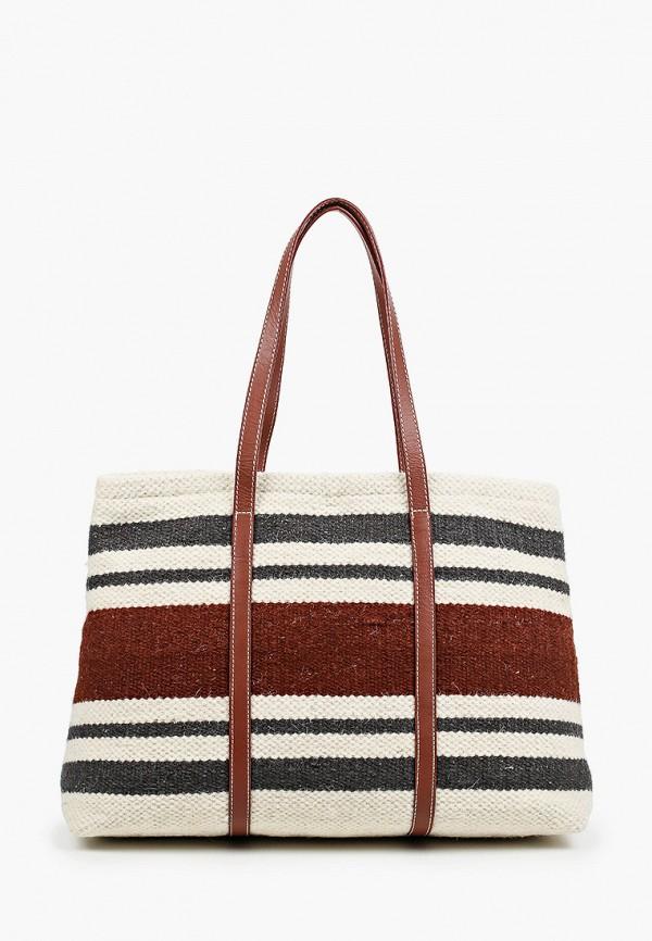 женская сумка-шоперы mango, разноцветная