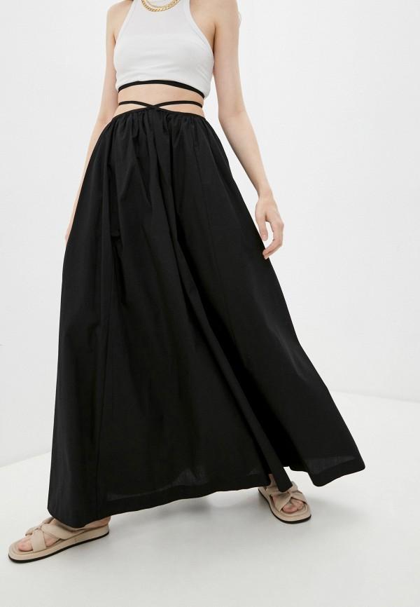 женская юбка-трапеции mango, черная