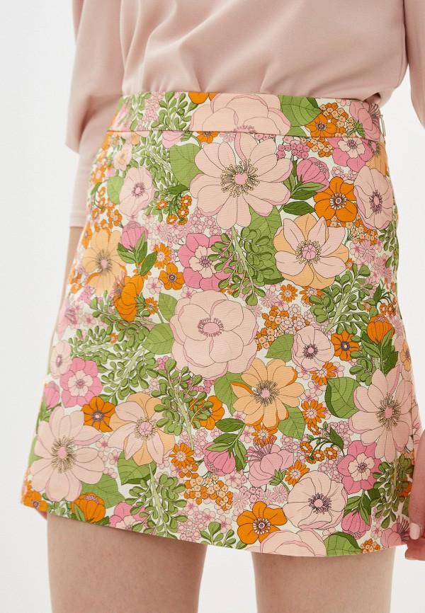 женская юбка-трапеции mango, разноцветная