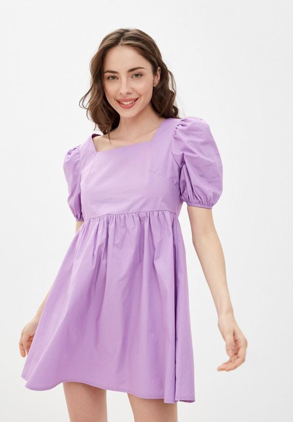 женское повседневные платье pink orange, фиолетовое