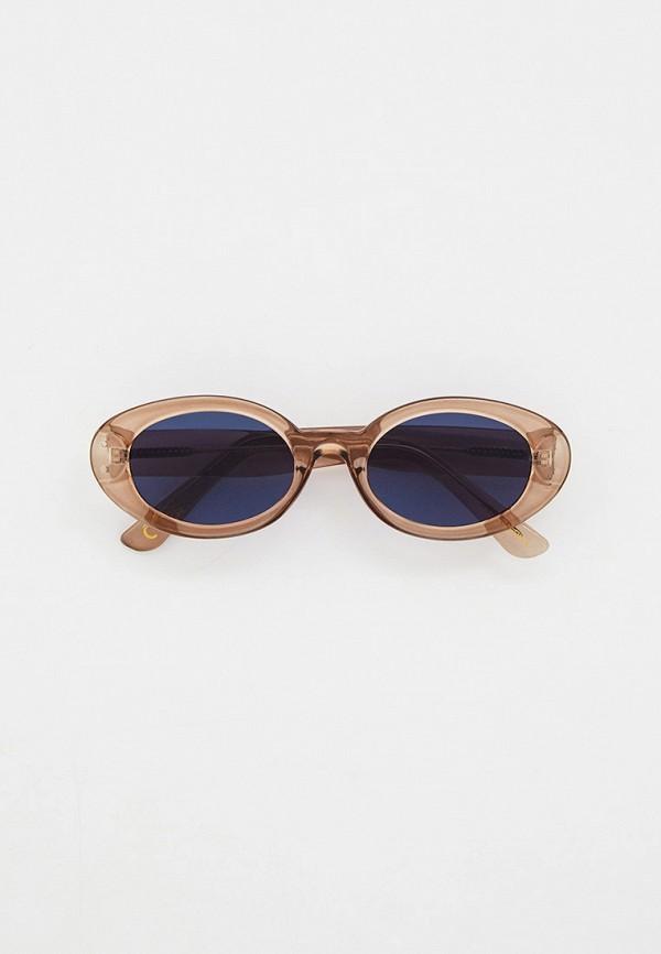 женские круглые солнцезащитные очки mango, серые