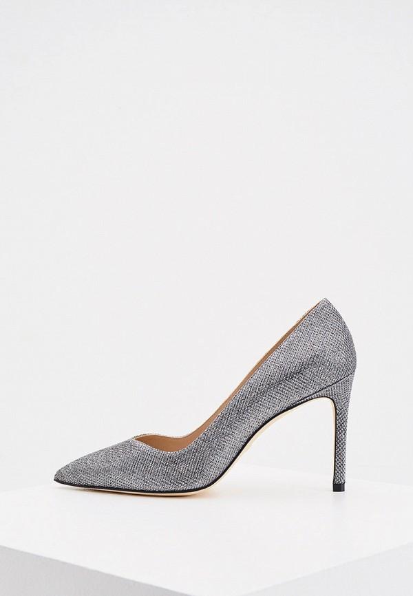 женские туфли-лодочки stuart weitzman, серебряные