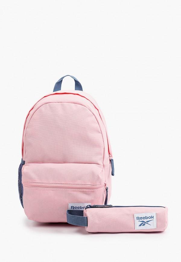 Рюкзак и пенал Reebok розового цвета