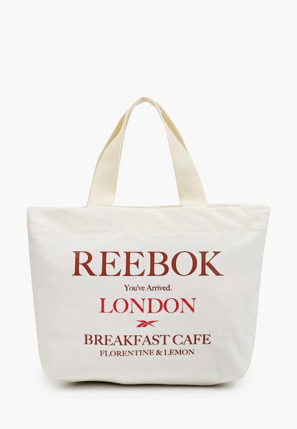женская спортивные сумка reebok classic, белая